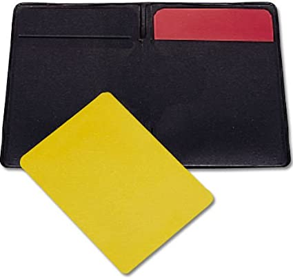 BSN Soccer Referee Warning Cards and Wallet