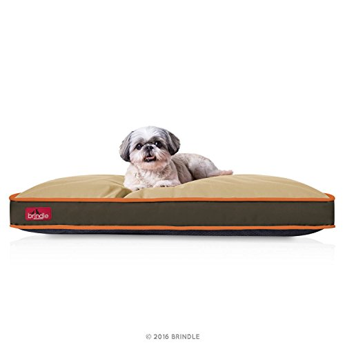 BRINDLE Waterproof Pet Bed - Machine Washable Padded Bed for Dogs and Cats - 34 x 22 inches - Hunter Brown