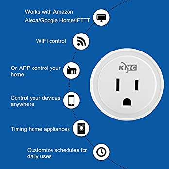 Smart Plug, KMC WIFI MiNi Outle Works (4 PACK)