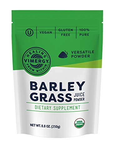 Barley Juice Grass Usa Powder - Vimergy USDA Organic Barleygrass Juice Powder (250g)