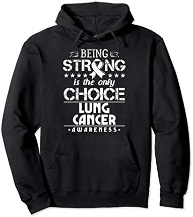 Gift for Non-Small Cell Lung Cancer Patients SCLS Awareness Pullover Hoodie