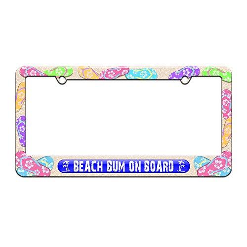 beach bum license plate frame - 8