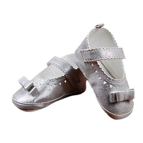 Festliche Babyschuhe Taufschuhe Ballerinas Silber Modell 5577