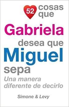 Book 52 Cosas Que Gabriela Desea Que Miguel Sepa: Una Manera Diferente de Decirlo