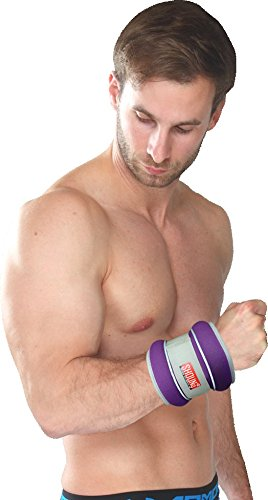 SHOUNg Reflective Ankle / Wrist Weights (1 Pair) with Adjustable Strap for Fitness, Workout, Exercise, Walking, Jogging, Gymnastics, Aerobics and Gym(1lb 2lbs 3lbs 4lbs 5lbs 6lbs 8lbs 10lbs)