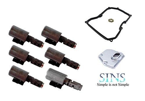 SINS - GA6F21WA Transmission Solenoid Kit - Fit Valve Body 24347603648, 24347566372-Large Canister