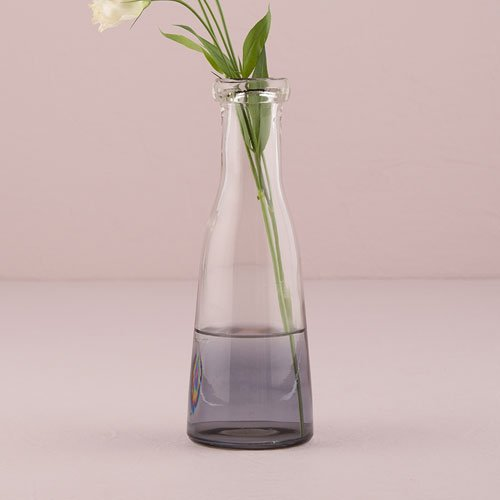 Medium Glass Bottle With Ombre Smoke Decoration