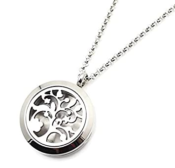Amazoncom Tree Of Life Essential Oil Diffuser Necklace Stainless