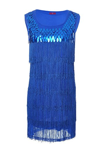 Vijiv Flapper Clothing Costume Sequined