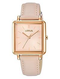 Lorus RG218NX9 - Reloj analógico de cuarzo para mujer con correa de piel