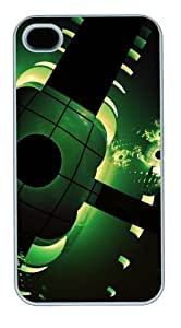 Dark Green Shapes PC Case Cover for iPhone 4 and iPhone 4s White