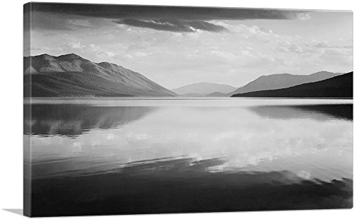 ARTCANVAS Evening - McDonald Lake - Glacier National Park - Montana Canvas Art Print by Ansel Adams- 40