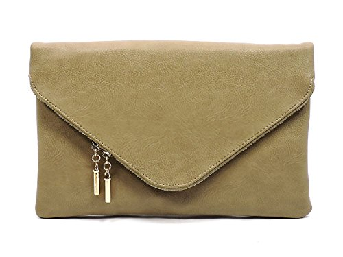 Over Clutch Bag Brick Fashion Fold Evening Large Purse Dark Envelope Cross Elphis Body qXnYTBB