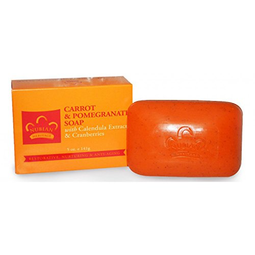 Carrot Heritage Nubian - Nubian Heritage Carrot & Pomegranate Bar Soap 5 oz Bar(S)