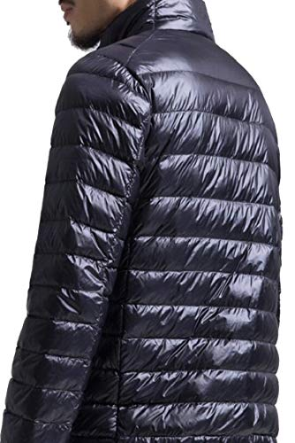 Mens Coat Jacket Ultra TTYLLMAO Packable Down Black Puffer Outwear Lightweight SwPBqU