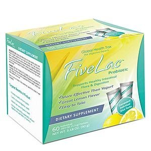 Global Health Trax (GHT) – FiveLac Probiotic Natural Lemon Flavor – 2 (60) Packets