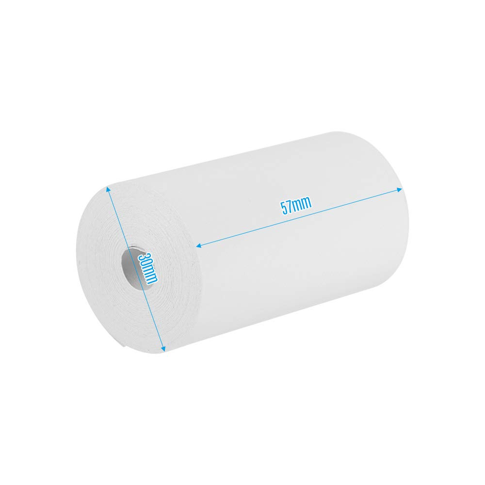 Impresora de rollos de papel t/érmico 57 30 mm Rollos de caja registradora de papel para supermercado POS