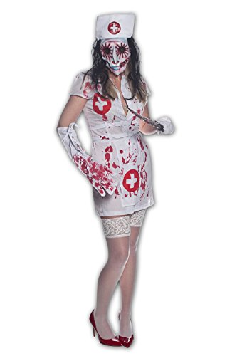 Morbid Enterprises WoNurse Terminal Costume, White/Red/Silver/Black, Small