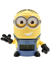 BulbBotz Despicable Me 3 Dave Minions Kids Night Light Alarm Clock with Characterised Sound | Yellow/Blue | Plastic | 5.5 inches Tall | LCD Display | boy Girl | Official
