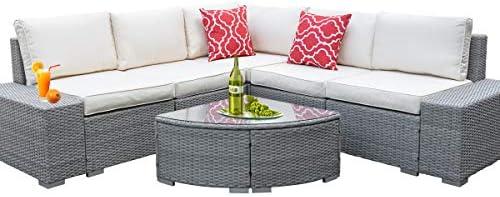 6 Pieces Outdoor Patio Furniture Set
