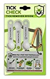 TickCheck Tick Remover Spoon - 3 Pack of Lightweight Tick Remover Tools with Free Tick ID Card & Carabiner (1 Set of 3 Spoons)