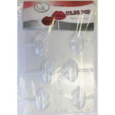 CK PRODUCTS CHOCOLATE CANDY CAKE MOLD VALENTINES DAY CAKE POP PRESS & MOLD-LIPS PACKAGE OF 3 (Cake Pops Valentines Day)