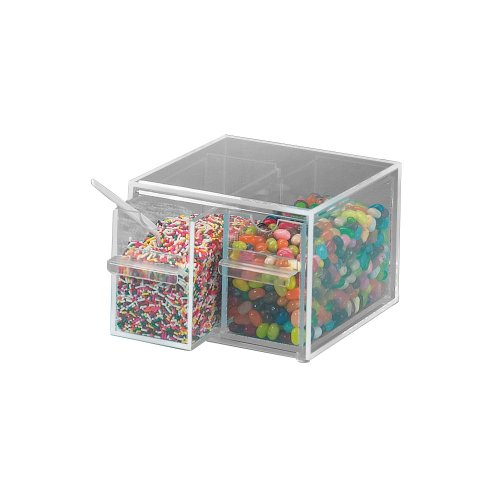 CalMil 2 Drawer Stackable Topping Dispenser, 7 x 8 x 5 inch -- 1 (Stackable Topping Dispenser)