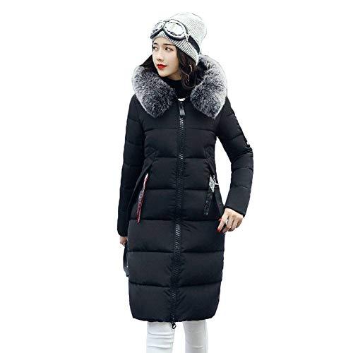 Hibote Winter Coat Down Jacket Women Hooded Winter Warm Down Jacket Long Parka M-XXXL Black