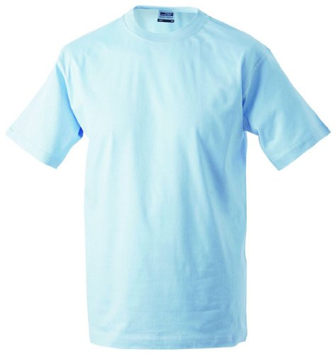 Round-T Shirt Heavy/James & Nicholson (JN 002) S M L XL XXL 3XL 4XL 5XL HELLBLAU,S