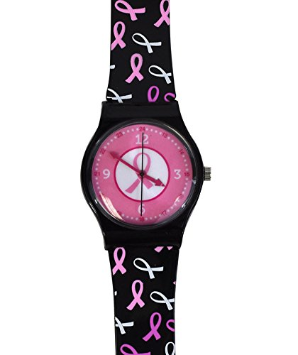 Think Medical Pink Ribbon Cancer Awareness Jelly Watch