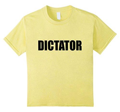Dictator Costume Girl (Kids Dictator T Shirt Halloween Costume Funny Cute Distressed 8 Lemon)