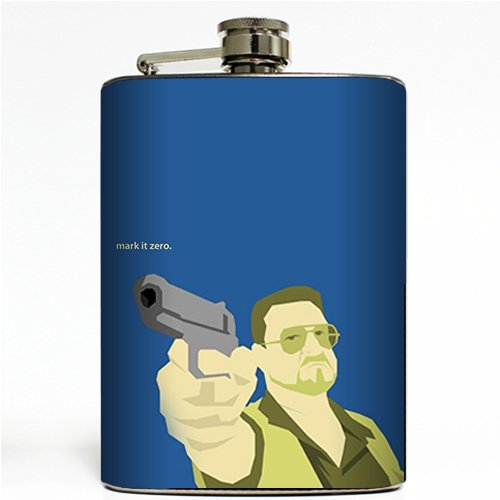 mark-it-zero-flask-8-ounce-stainless-steel-big-lebowski-movie-walter-dude-bowling-donnie-alcohol-liq