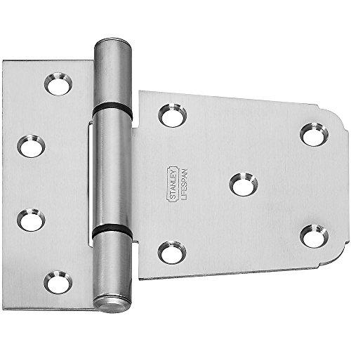 Stanley Steel Hinges (Stanley Hardware S808-659 CD908.5 LIFESPAN Heavy T Hinge in Stainless Steel)