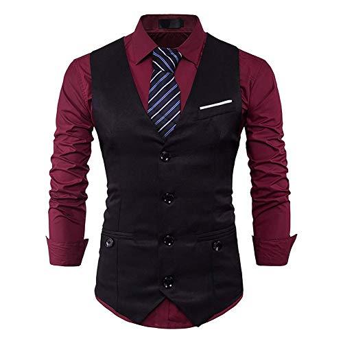 Pour Nouveau Smokings Xl Business 2 Gilet Suit Les Slim coloré Taille Taille neck V 1 Fit couleur Formels Gilets M Hommes Classique Vest Casual Fuweiencore D'affaires EpPqwP