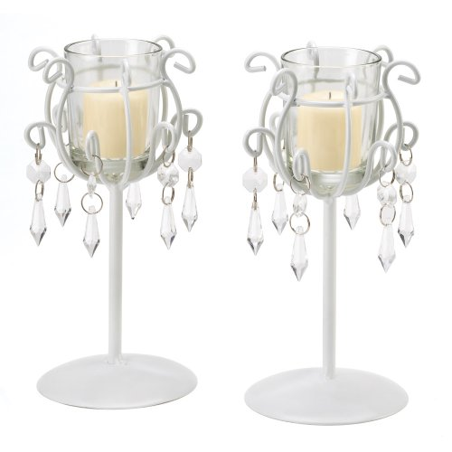 Gifts & Decor Crystal Drop Votive Stands