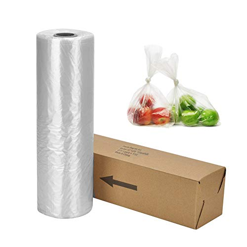 14″ X 20″ Plastic Produce Bag on a Roll Clear Food Storage Bags, Pet Bags, Diapers Bags, One Roll 350 Bags