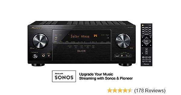 Pioneer VSX-LX303 9.2 Channel 4k UltraHD Network A//V Receiver Black