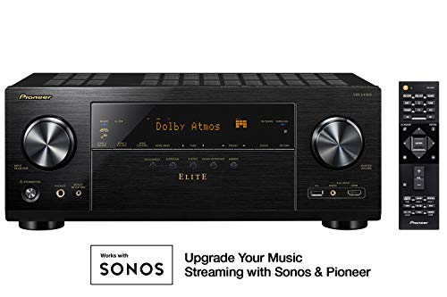 Pioneer VSX-LX303 9.2 Channel 4k UltraHD Network A/V Receiver Black (Best Av Receiver Under 1000)