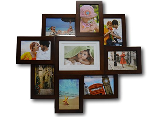 brown collage picture frames amazoncom