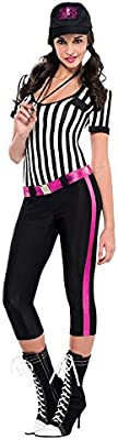 Womens Ladies Instant Replay Referee Sports Fancy Dress Costume Outfit Hen Party