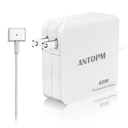Macbook Pro Charger R60-T, Replacement MacBook Air Charger 60W Magsafe 2 T-Tip Power Adapter for Apple Macbook Pro 13-inch Retina- After Late 2012