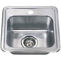 Wells Sinkware CMT1515-6-1 18-Gauge Single Bowl Top-Mount Kitchen Sink Package, Stainless Steel