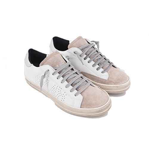 de para Zapatillas mujer Blanco Bianco Piel P448 wU5qq