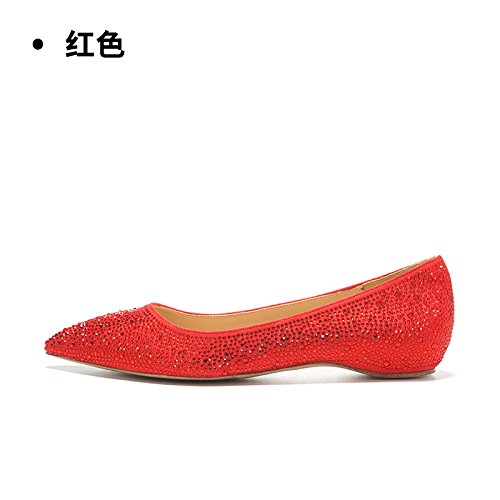 The Women Rise Sandals Shoes Shoes Shoes HUAIHAIZ flat Pumps High Footwear Women'S Of Single With The Flat Court Heels Shoes Red Wedding Shoes wtqvZ1