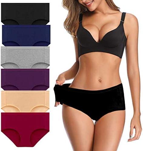 OLIKEME Womens Underwear Mid Waist Full Coverage Breathable Ladies Briefs Panties for Women