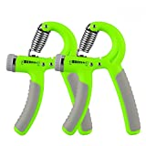 Dream Wings Hand Grip Strengthener Adjustable Resistance 22-88 Lbs Grip Exerciser, Hand Squeezer, Forearm Grip, Hand Exercise, Finger Strengthener for Athletes Pianists Therapy (Green)