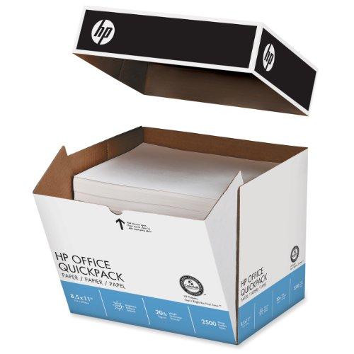 Hewlett Packard Printer Paper Jam (HP Printer Paper, Office Ultra White Copy Paper, 20lb, 8.5 x 11, Letter, 92 Bright - 2,500 Sheets / 1 Quickpack Carton - NO REAM WRAP (112103C))