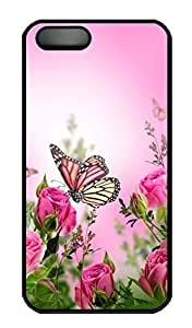 Brian For Iphone 6 Plus 5.5 Phone Case Cover - Fashion Style Butterfly With Pink Flower 2 Black PC Hard For Iphone 6 Plus 5.5 Phone Case Cover Kimberly Kurzendoerfer 3326658M70704590