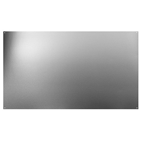(Broan Backsplash Range Hood Wall Shield for Kitchen, Reversible Stainless Steel, 24