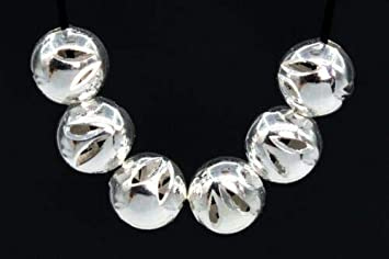 20 Pcs 6MM Silver Tone Round Spacer Beads